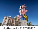barcelona spain february 12... | Shutterstock . vector #1112604362