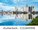 singapore city skyline ...   Shutterstock . vector #1112604908