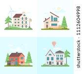 nice buildings   set of modern... | Shutterstock . vector #1112604998