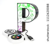 green and purple video game... | Shutterstock . vector #1112620088