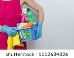 cleaning and washing household... | Shutterstock . vector #1112634326