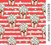 cute kids pop corn pattern for... | Shutterstock . vector #1112635658