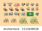 set kit collection stock vector ... | Shutterstock .eps vector #1112648018