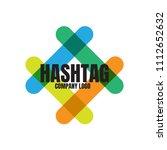 hashtag vector logo design   Shutterstock .eps vector #1112652632