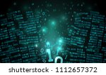 abstract futuristic cyberspace... | Shutterstock .eps vector #1112657372