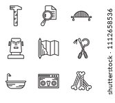 set of 9 simple editable icons... | Shutterstock .eps vector #1112658536