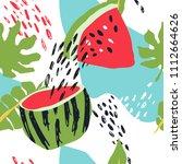 minimal summer trendy vector... | Shutterstock .eps vector #1112664626