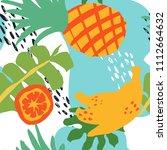 minimal summer trendy vector... | Shutterstock .eps vector #1112664632