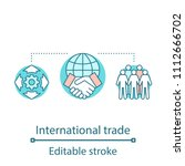 global trade concept icon.... | Shutterstock .eps vector #1112666702
