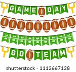 american football bunting flags ... | Shutterstock .eps vector #1112667128
