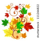Autumnal background with colorful leaves for seasonal decorations. Jpeg version also available in gallery - stock vector
