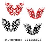 bikers and bikes tattoos in... | Shutterstock .eps vector #111266828