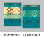 laconic simple xmas pattern for ... | Shutterstock .eps vector #1112669075