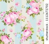 elegant seamless rose pattern... | Shutterstock .eps vector #1112672702