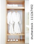 close up of twins bathrobe in... | Shutterstock . vector #111267452