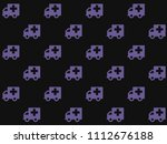 endless repeating lilac... | Shutterstock . vector #1112676188