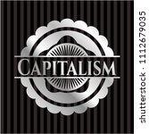 capitalism silver emblem or...   Shutterstock .eps vector #1112679035