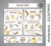 wild west brochure. american... | Shutterstock .eps vector #1112679992
