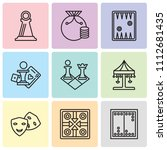 set of 9 simple editable icons... | Shutterstock .eps vector #1112681435