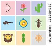 set of 9 simple editable icons... | Shutterstock .eps vector #1112684192