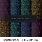 vector set of eight acid... | Shutterstock .eps vector #1112684852