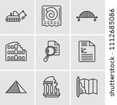 set of 9 simple editable icons... | Shutterstock .eps vector #1112685086