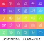 colorful vector flat web icons... | Shutterstock .eps vector #1112698415