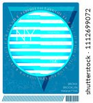 new york  stock vector... | Shutterstock .eps vector #1112699072