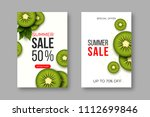 summer sale banners with sliced ... | Shutterstock .eps vector #1112699846
