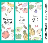 healthy food banner collection. ... | Shutterstock .eps vector #1112703386