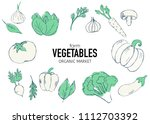healthy food banner collection. ... | Shutterstock .eps vector #1112703392