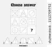 choose correct answer  iq test...   Shutterstock .eps vector #1112709752