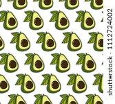 avocado pattern background | Shutterstock .eps vector #1112724002