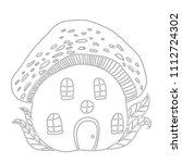 fairytale house mushroom...   Shutterstock .eps vector #1112724302