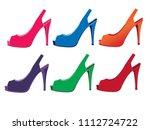 woman shoes vectors | Shutterstock .eps vector #1112724722