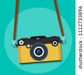 retro camera. vector... | Shutterstock .eps vector #1112733896