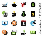 solid vector ixon set   dollar... | Shutterstock .eps vector #1112736938