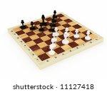 white figures against black | Shutterstock . vector #11127418