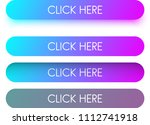 bright blue and purple spectrum ... | Shutterstock .eps vector #1112741918