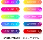 set of colorful click here... | Shutterstock .eps vector #1112741942