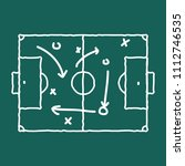soccer game strategy coaching... | Shutterstock .eps vector #1112746535