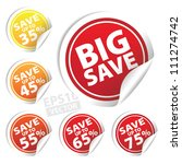eps10 vector  big save tags... | Shutterstock .eps vector #111274742