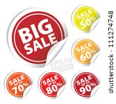 eps10 vector  big sale tags... | Shutterstock .eps vector #111274748