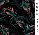 vector seamless tropical... | Shutterstock .eps vector #1112759792