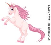 cartoon  magic unicorn rearing... | Shutterstock .eps vector #111275996