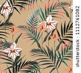 vector seamless tropical... | Shutterstock .eps vector #1112761082