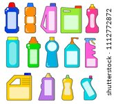 cleaning household products.... | Shutterstock .eps vector #1112772872