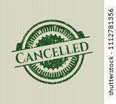 green cancelled rubber grunge...   Shutterstock .eps vector #1112781356