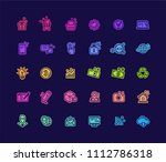 color vector isolate web icons... | Shutterstock .eps vector #1112786318