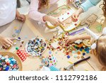 the mosaic puzzle art for kids  ... | Shutterstock . vector #1112792186